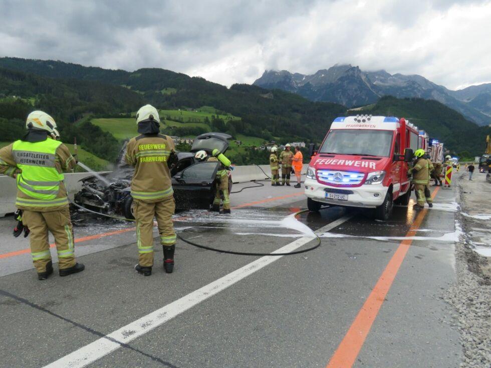 Pfarrwerfen: Alkolenker berschlgt sich auf A10 - Salzburg24