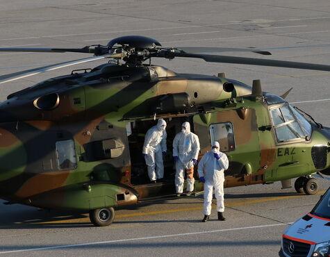 Hubschrauber Desinfektionsmittel
