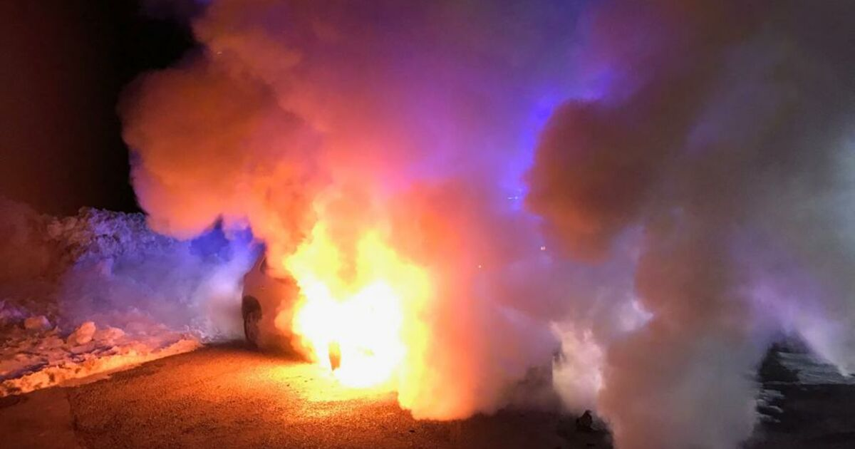 Alm In Flammen