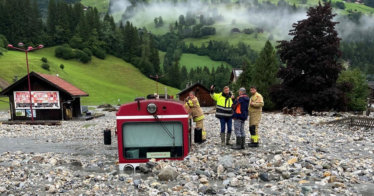 Unwetter: Wieder zahlreiche Einsätze in Salzburg - Pinzgaubahn erneut getroffen !