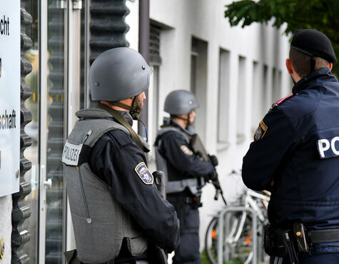 Landesgericht Salzburg, Polizei