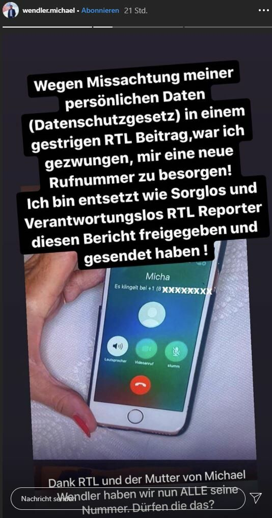 Michael Wendlers Telefonnummer Live Bei Rtl Gezeigt Salzburg24