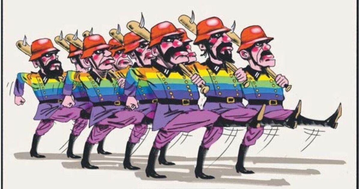 Karikatur lesbische Sex-Pics